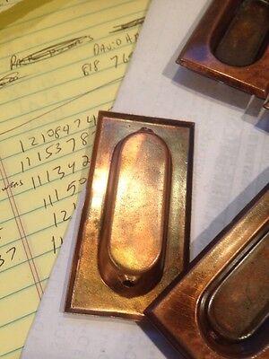 D 49 Five Matching Sheet Metal Window Lifts Antique 2