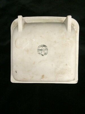 TEPEGO Vintage White Porcelain Ceramic Tile Soap Dish Grab Bar Bathroom in wall 7