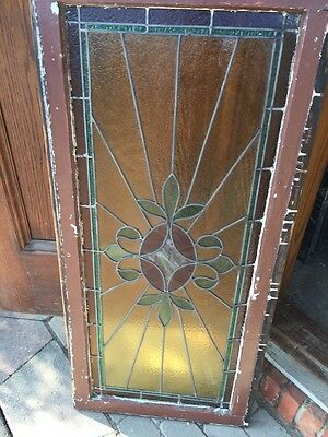 Sg 520 Antique Stainglass Window Transom Ray Of Sunshine 9