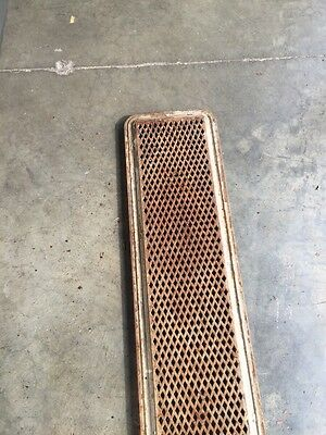 "Rt 5 2 Available Priced Each Antique Cast-Iron Radiator Cover 61"" X 10"" 2"