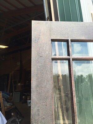 D 225 Antique Oak Painted Townhouse Entrance Door Beveled Glass 4