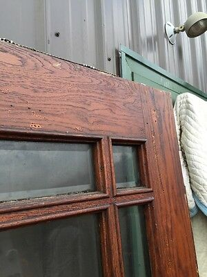 A R 25 Antique Prairie Style Beveled Glass Entrance Door 36 Inch 12