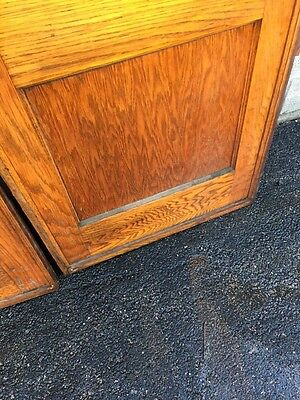 Dz 1  1set Antique Two Panel Flat Oak Pocket Doors With Tracking And Wheels 6