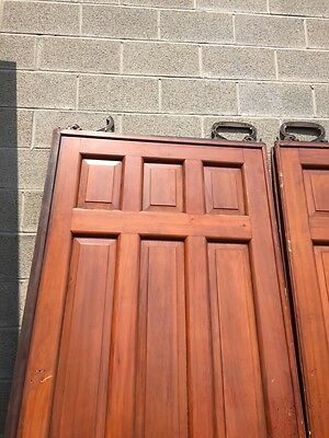 D2 26 One Pair Antique Cherry Pocket Doors 80 Inch Wide By 105 Hi 2