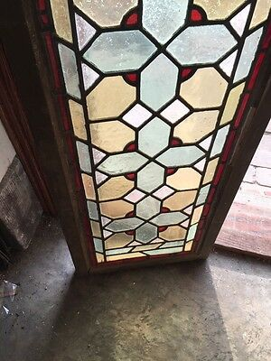 Sg 813 Two Available Priced Separate Antique Stainglass Transom Window 4