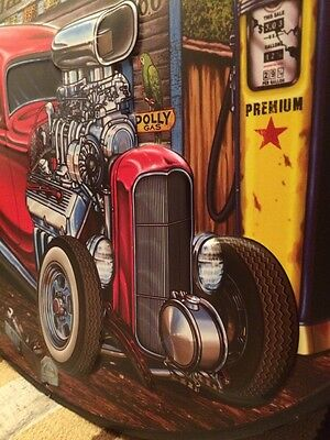 Hot Rod Garage Metal Decor Gas Pump Coupe Rat Rod Oil Bar Industrial Ford Chevy 4