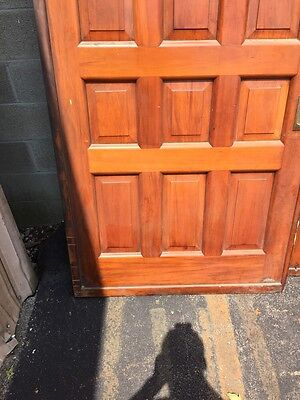 D2 26 One Pair Antique Cherry Pocket Doors 80 Inch Wide By 105 Hi 4