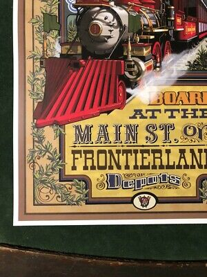 CCOLLECTOR POSTER 4 DIFFERENT SIZES DISNEY MAIN STREET RAILROAD B2G1 FREE!!