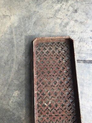 "Rt 6 Antique Cast-Iron Radiator Cover 29"" X 8.5"" 6"