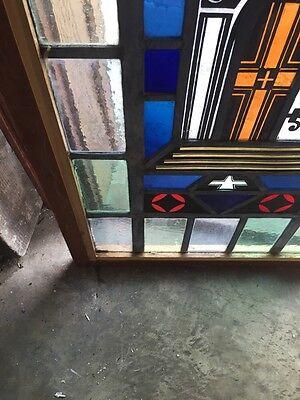 Sg 697 Antique Painted In Fired Open Door Alter Window 7