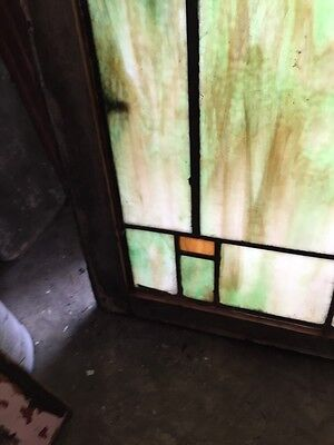 Sg 404 Arts And Crafts Antique Stainglass Window 6