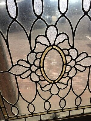 Sg 1359 2 Available Priced Each Antique Stainglass Textured Window 30.5 X 31.5
