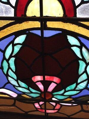 A.M. Six Antique Stainglass Landing Window Victorian 9