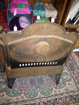 Steampunk 1900s IRON Steel Brass GAS FIREPLACE INSERT REZNOR Orthoray Rare Vtg 11