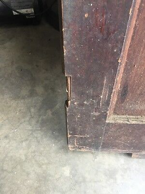 D202 Antique Swing Door With Textured Glass 29 Inch 79 Inch 4