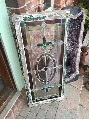 Sg 874 Antique Transom Window With Neat Pressed Jewels Colorful 8