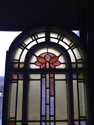 Number Two Of Youngstown's Finest Antique Stainglass Windows Tall In Woodframe 2