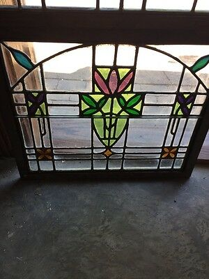 Sg 782 Four Available Price Separate Antique Stainglass Windows 2