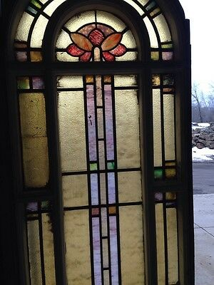 Antique Stain Glass Windows In Woodframe Youngstown's Finest Number 1 Of 4 3