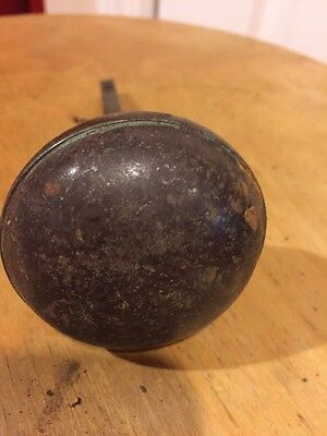 Antique Metal Doorknob With Bar 3