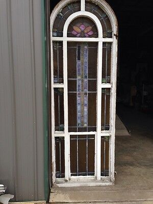 Number Two Of Youngstown's Finest Antique Stainglass Windows Tall In Woodframe 7