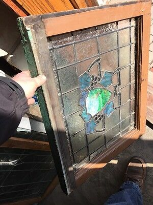 Sg 567 Antique Wine Cellar Grape Design Stainglass Window 6