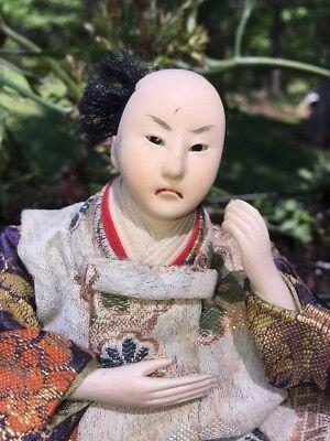 Antique Japanese Musha Ningyo Warrior Doll Boy's Day Festival Yoshitune Meiji 2