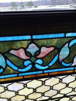 Antique Painters Palette Stainglass Window With Many Jewels 5