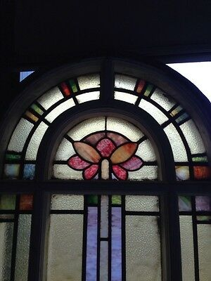 Number Three Youngstown's Finest Stained Glass Woodframe Antique Windows 2