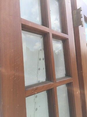 Ad 6 Pine Door Set Beveled Glass With Sidelights And Jamb 3