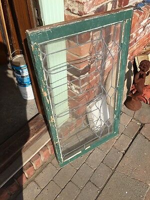 Sg 652 Antique Leaded Glass Window Six Leaves 5