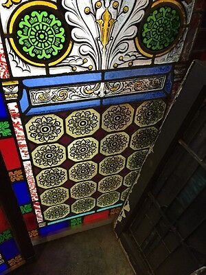 Sg 895 Two Available Price Separate Antique Painted And Fired Landing Windows 8