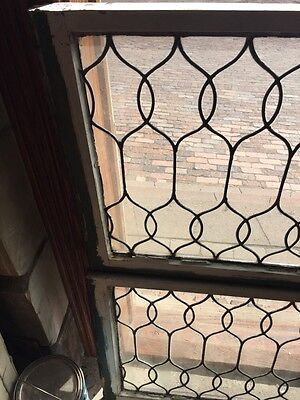 Sg 653 Two Available Price To Each Antique Leaded Glass Curly Cue Design Windows 2