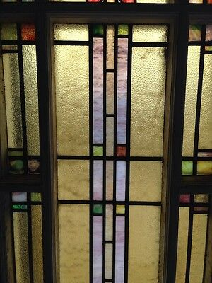 Number Three Youngstown's Finest Stained Glass Woodframe Antique Windows 3