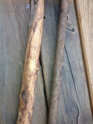 1800s Antique Vtg Old Wood Flail Farm Threshing Tool Origin of Karate Nunchuck Z 3