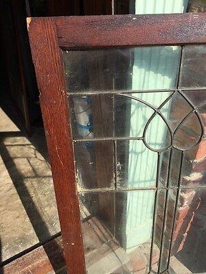 "Sg 821 Antique Leaded Glass Window 22"" X 43.5"""