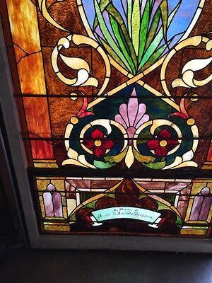 Ca14 Antique 1890S Stainglass Landing Window 5
