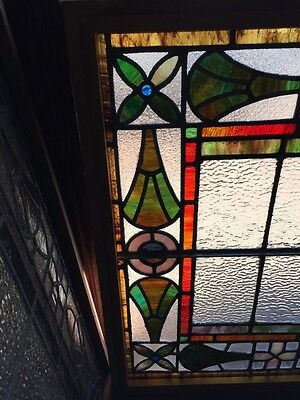 Sg 777 Antique Stained Glass Window Colorful 2