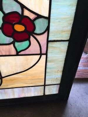 Sg 376 Antique Duel Red Flowers Window 6