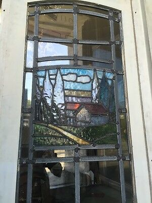 Arts And Crafts Craftsman Style  Leaded Stained Glass Windows 9