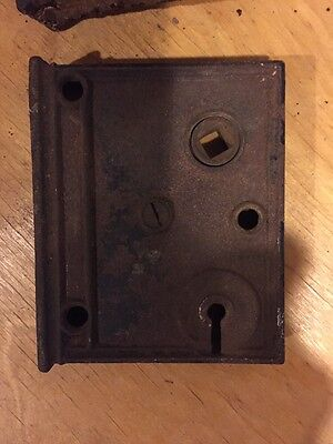 Antique Lock Boxes Lot Of 2 Needs Repair Not Working 5