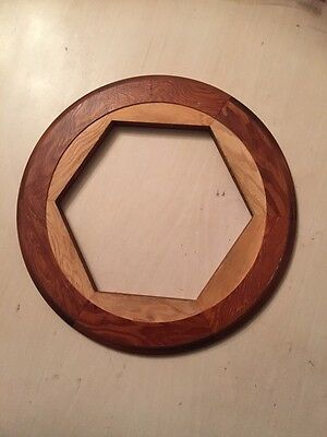 "2 X Dial / School Clock Bezel And Surround New 10"" Light Wood"