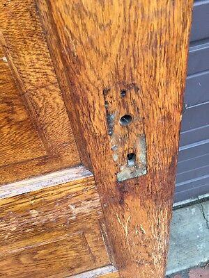 Ark 3 Match Pair Antique Raise Panel Oak Passage Doors 5 Foot Wide
