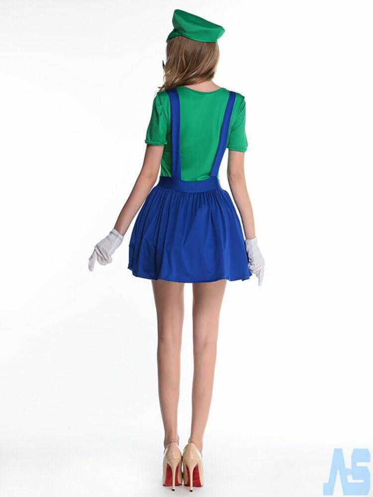 Women Fancy Dress Mario//Luigi//Supergirl//Elsa //Flapper// Red Heart Queen Costume