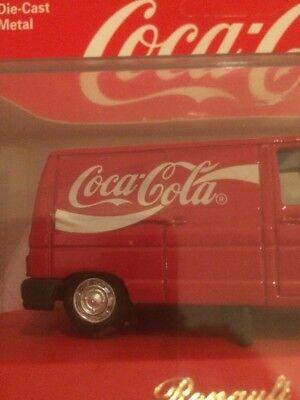 camion metal renault trafic1994 avec pub coca cola 1/43 8