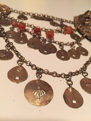 Antique Greek Gilded Belt W. Pendant Ahati Stones - Over 100 Years Old! 8