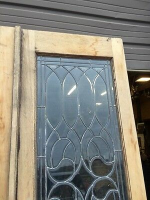 D 15 Matched Pair Beveled Glass Entrance Double Door 6