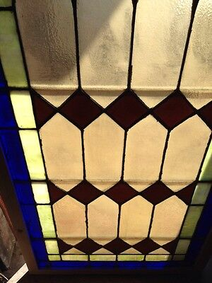 Sg 132 Antique Arched Stained Glass Window 33.5 X 63.25 High 5