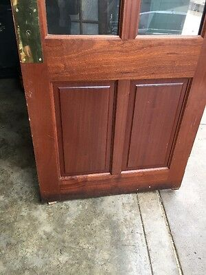 Cm 205 Antique Mahogany Or Birch Entrance Door 35 And Three-Quarter By 79 1/4