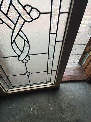 Sg 693 Antique Textured Glass Beveled Glass Window 7
